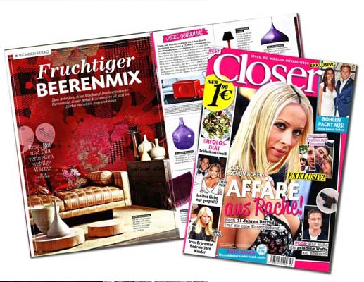 Garden-Flavours-#wallcovering-on-the-German-magazine-Closer