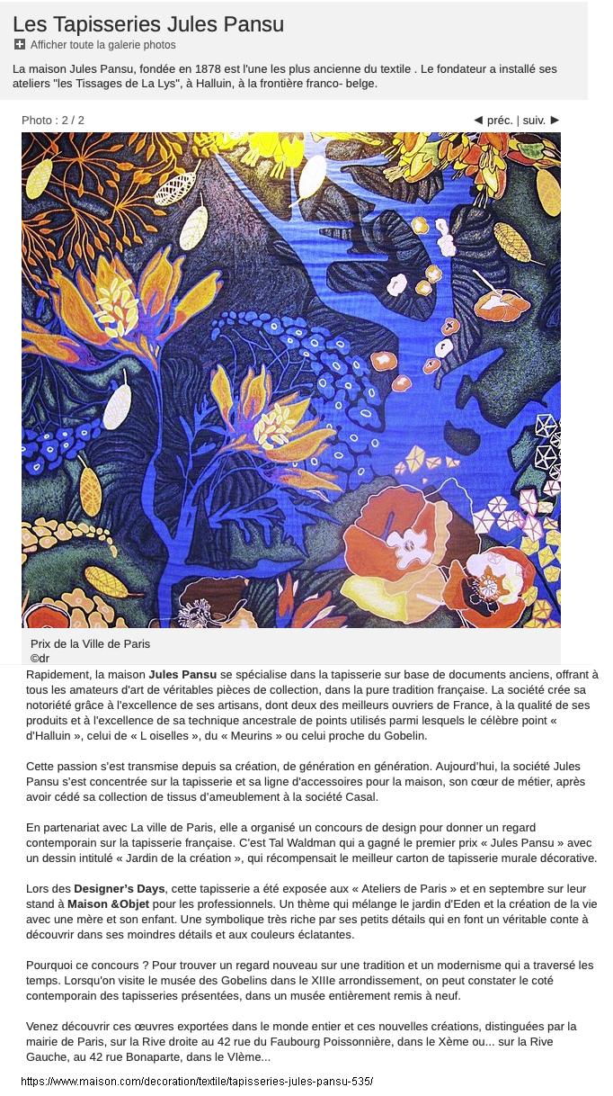 C Maison Et Jardin Magazine press2 – tal waldman